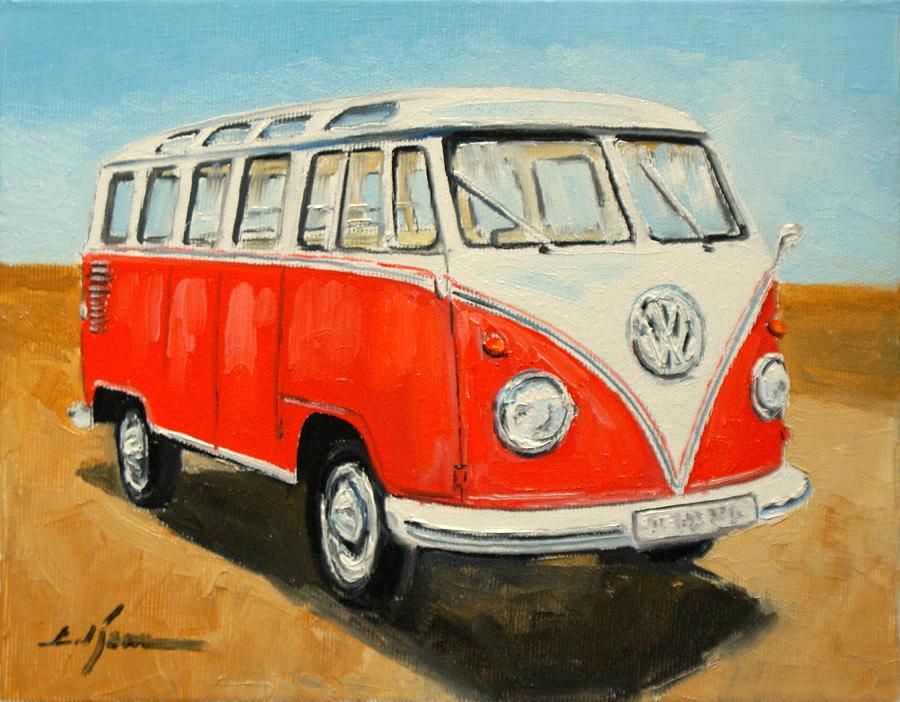 Vw Transporter T1 Painting By Luke Karcz