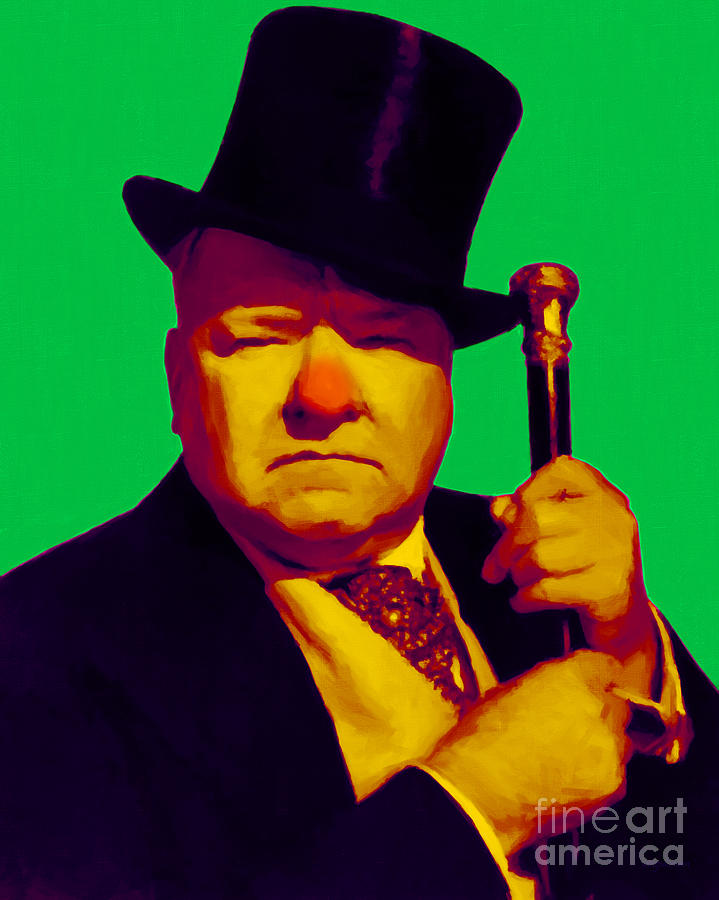Celebrity Photograph - W C Fields 20130217p180 by Wingsdomain Art and Photography