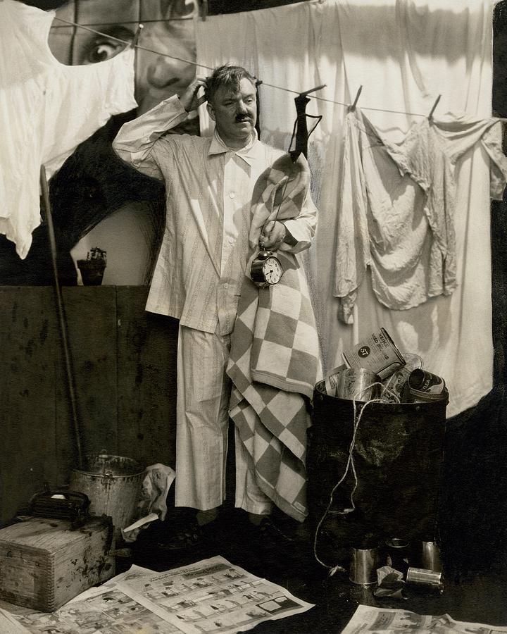 W. C. Fields Wearing Pyjamas Photograph by Edward Steichen
