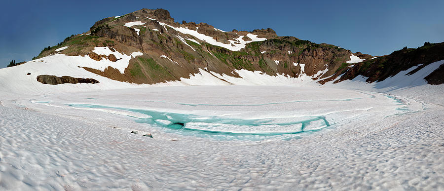 Environment Photograph - Wa, Goat Rocks Wilderness, Snow And Ice by Jamie and Judy Wild