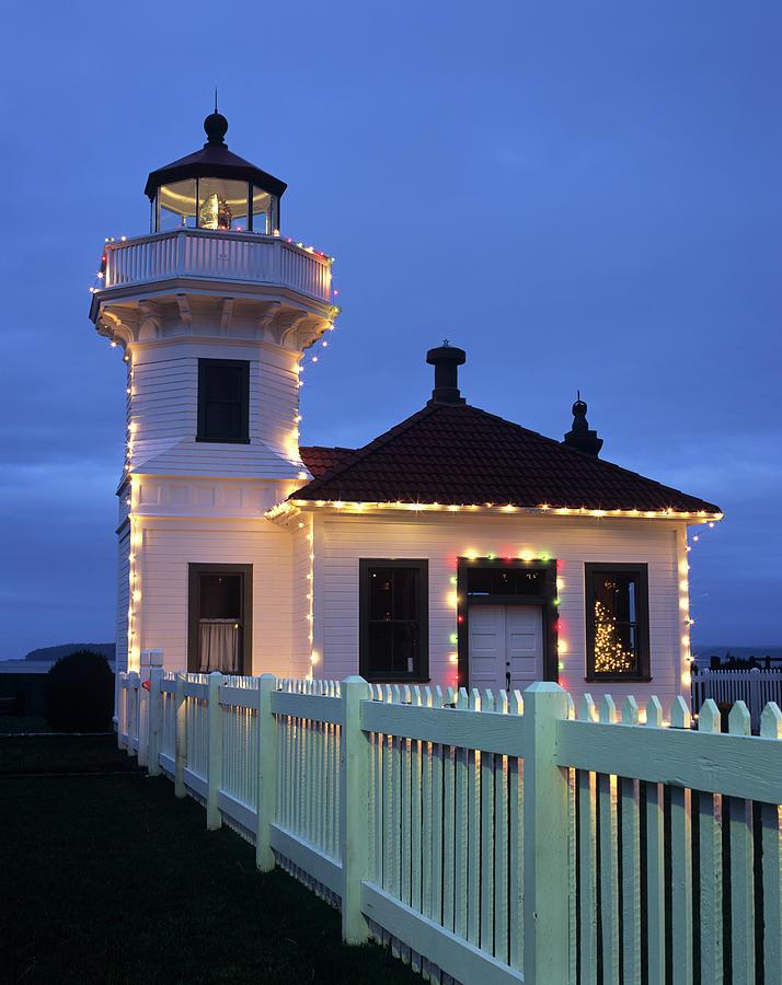 Architecture Photograph - Wa, Mukilteo, Mukilteo Lighthouse by Jamie and Judy Wild