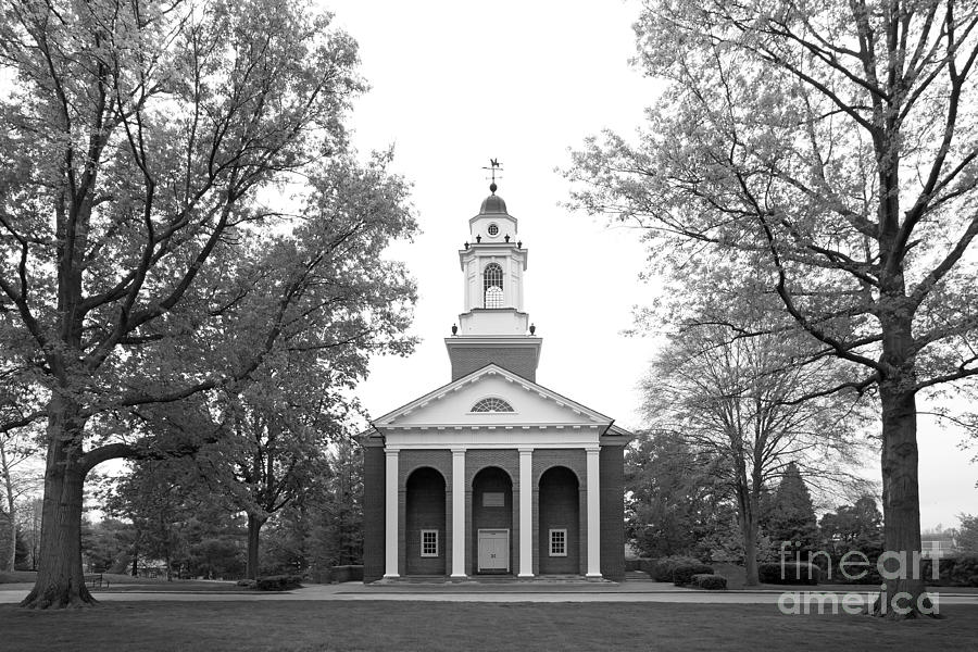 Crawfordsville Photograph - Wabash College Chapel by University Icons