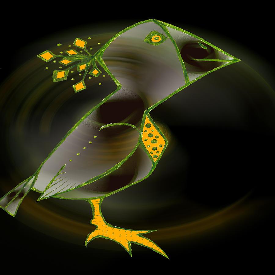 Bird Digital Art - Wacko Bird by Josephine Ring