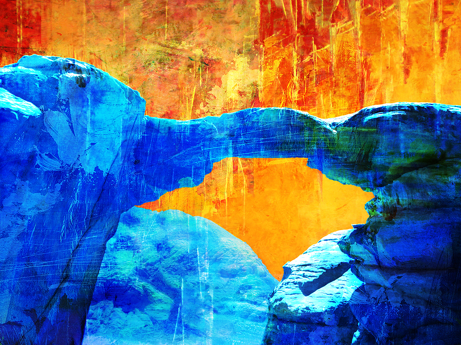 Wadi Rum Natural Arch 2 Painting by Catf