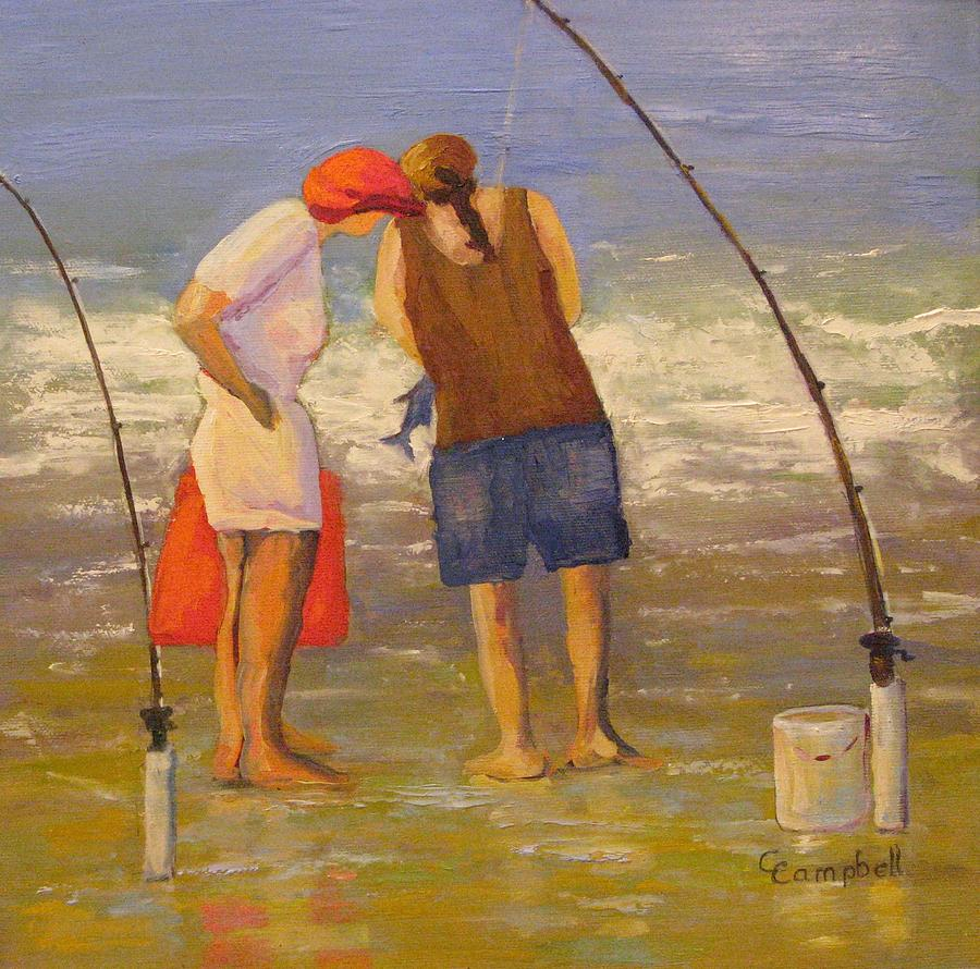 Figurative Painting - Wadja Catch? by Cecelia Campbell