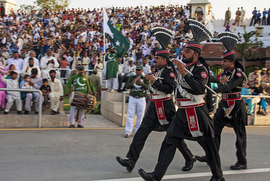 Wagah Border Ceremony Photograph by SM Rafiq Photography.