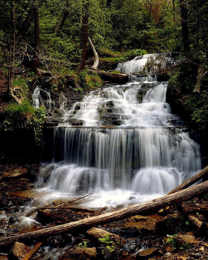 Upper Peninsula Photograph - Wagner Falls by Tim Hawkins