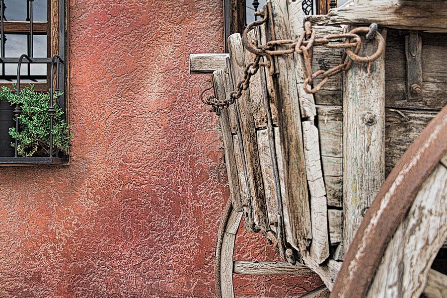Wagon Photograph - Wagon At The Hacienda by Robert Bascelli