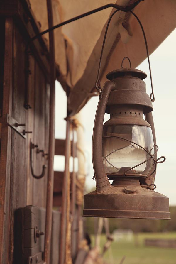 Lantern Photograph - Wagon Lantern by Toni Hopper