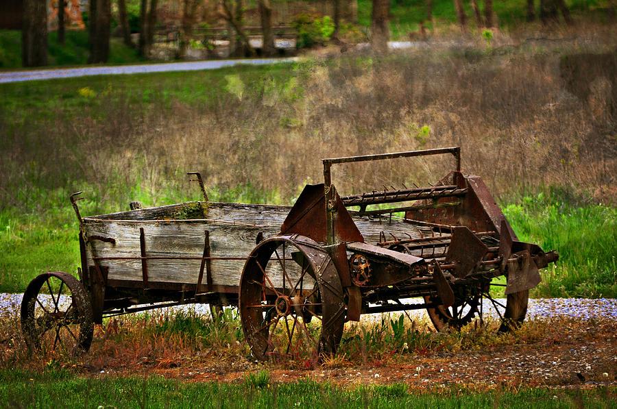 Farm Photograph - Wagon by Marty Koch