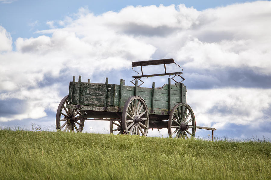 Wagon Photograph - Wagon On A Hill by Eric Gendron