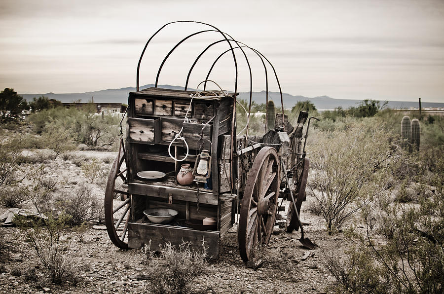 Pioneer Photograph - Wagon by Swift Family