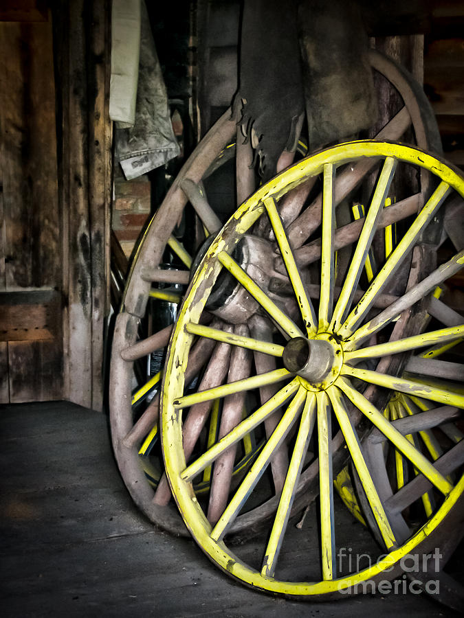 Wagon Wheels Photograph - Wagon Wheels by Colleen Kammerer
