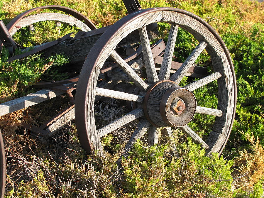 Transportation Photograph - Wagon Wheels by Steven Parker