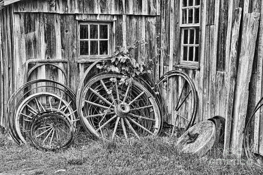 Wheels Photograph - Wagons Lost by Crystal Nederman
