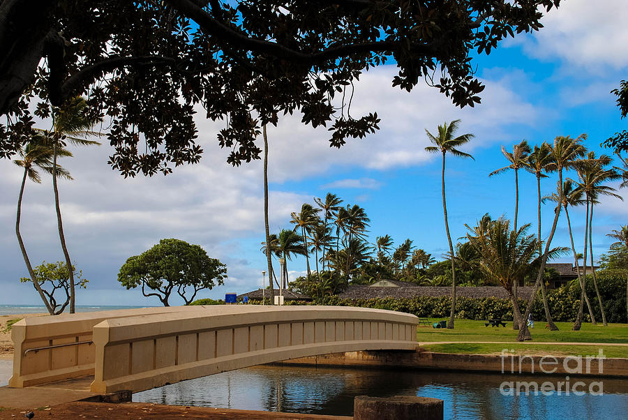 Hawaii Photograph - Waialae Beach Park Bridge Too by Lisa Cortez
