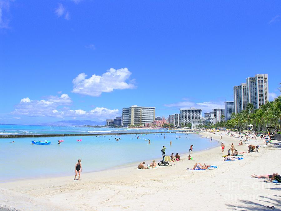 Beach Photograph - Waikiki Beach by Mary Deal