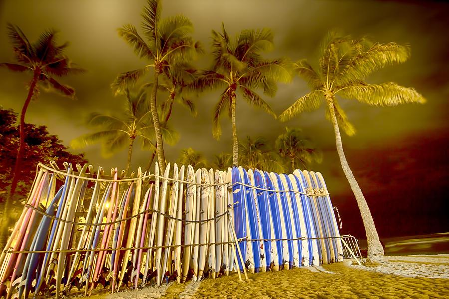 Waikiki  Photograph - Waikiki Surf by Douglas Barnard