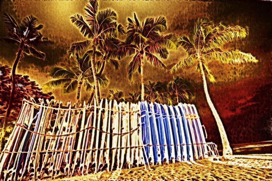 Waikiki Photograph - Waikiki Surf- Hawaii by Douglas Barnard