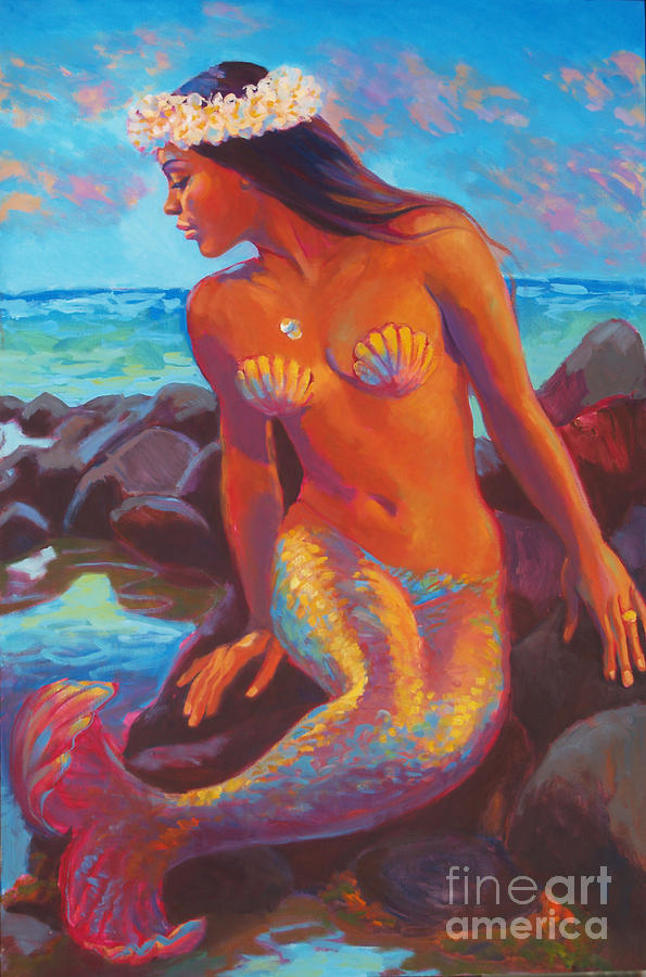 Mermaid Painting - Wailana Mermaid by Isa Maria