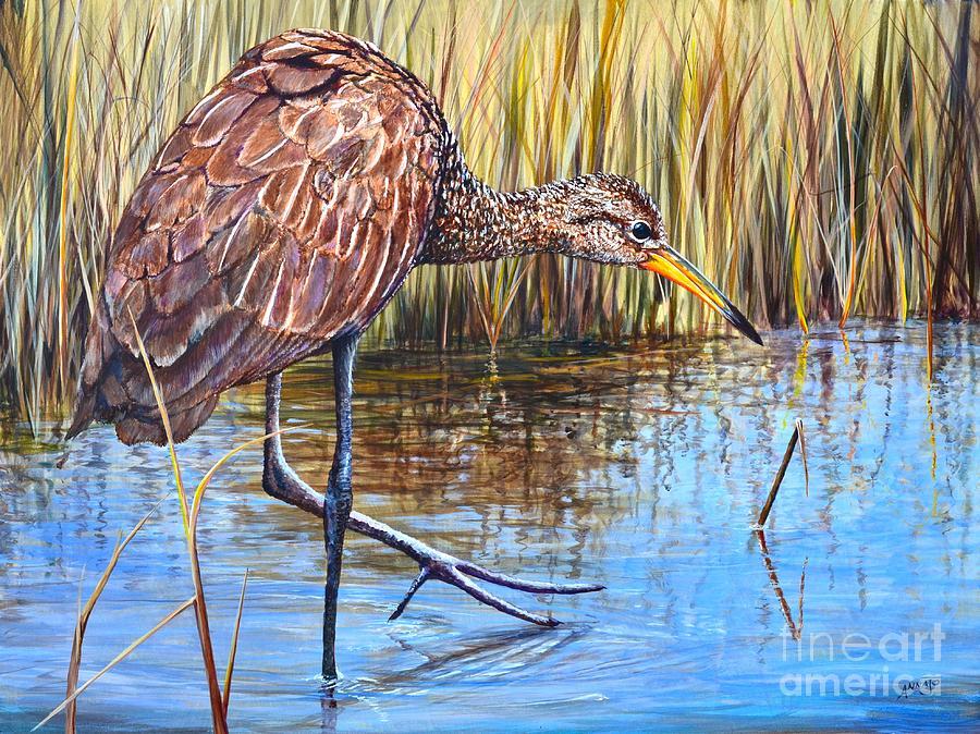 Wading Bird Painting - Wailing Bird by AnnaJo Vahle