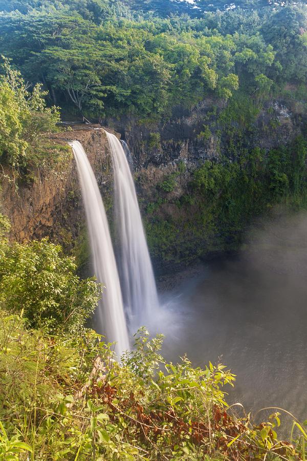 Wailua Falls Waterfall Landscape Kauai Hawaii Hi Photograph - Wailua Falls - Kauai Hawaii by Brian Harig