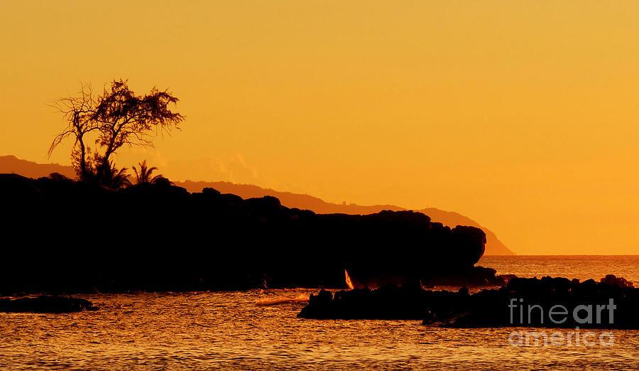 Waimea Bay Sunset Photograph