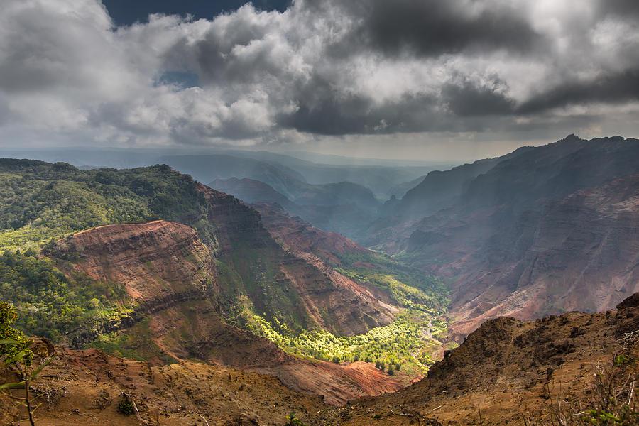 Waimea Canyon Photograph - Waimea Canyon Kauai by Sam Amato