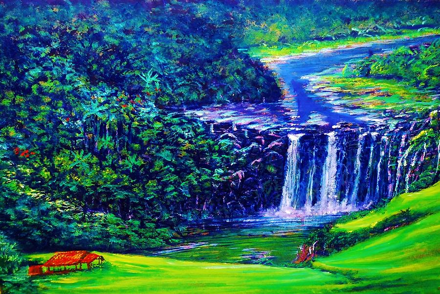 Myp Nwwip Waimea 4731-3 Painting - Waimea Falls - Horizontal by Joseph   Ruff