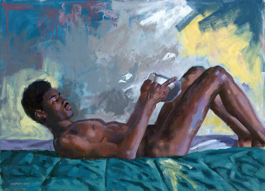 Male Figure Painting - Waipio Gentry 10 by Douglas Simonson