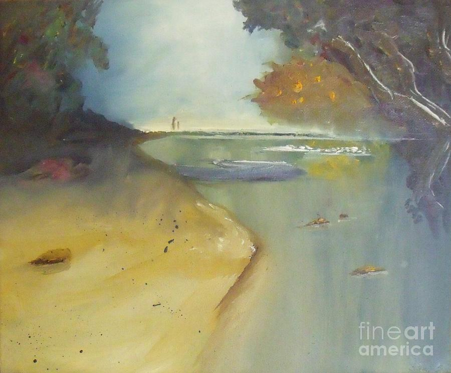 Waipu Cove In New Zealand Painting by Debra Piro