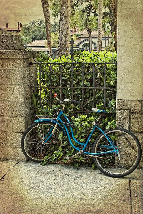 Bike Photograph - Wait Here For Me by Regina  Williams