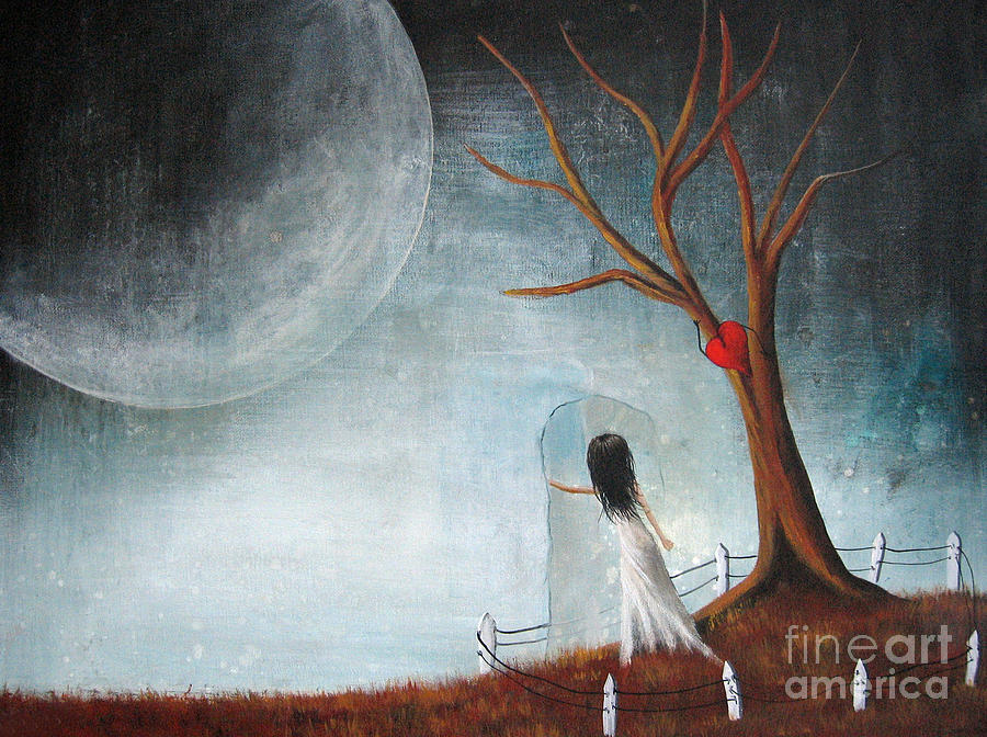 Surreal Painting - Wait Here Ill Be Right Back By Shawna Erback by Shawna Erback