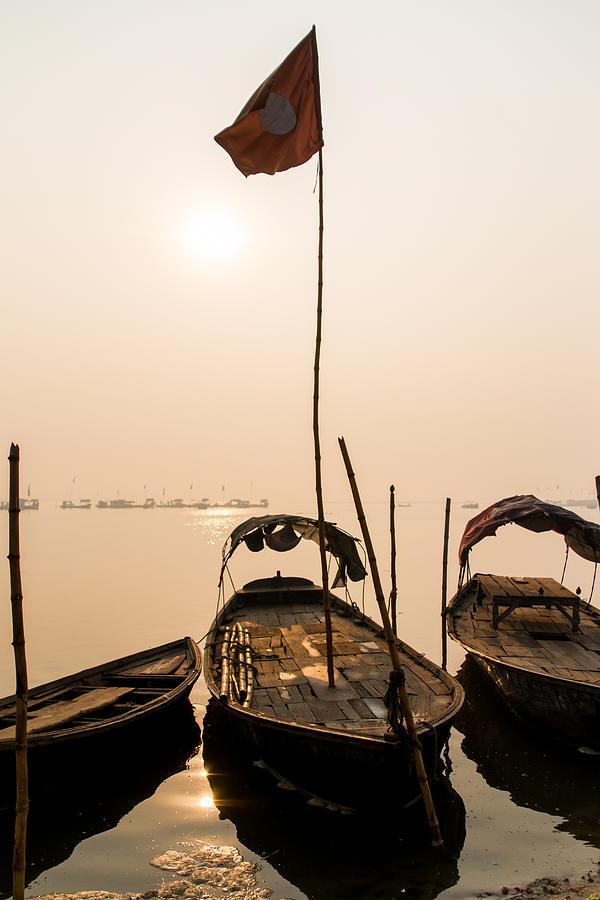 Allahabad Photograph - Waiting Boats by Gaurav Singh