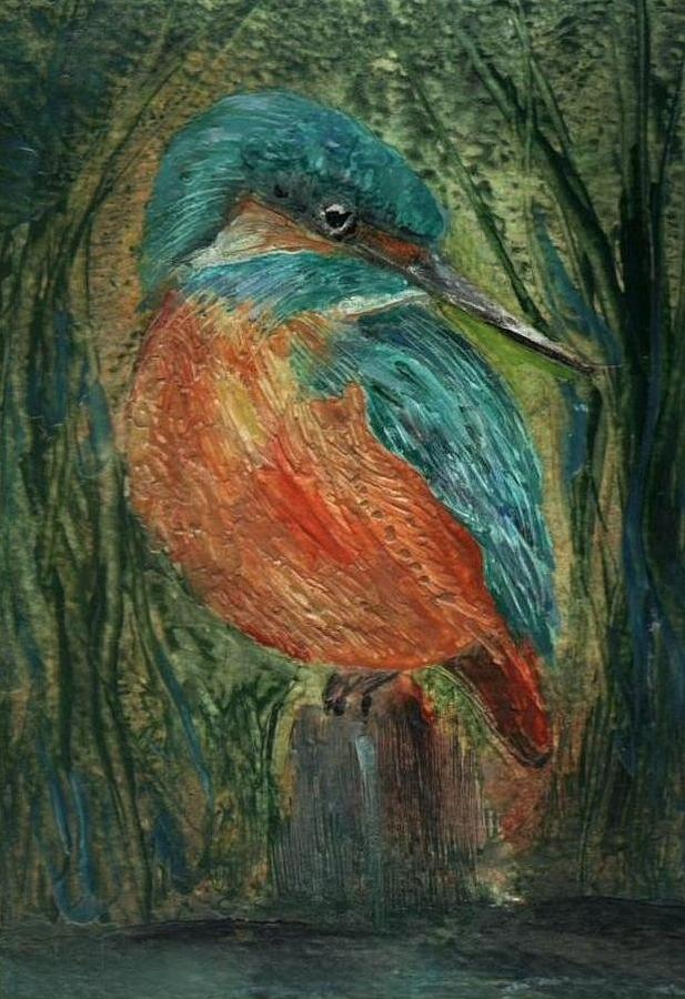 Bird Painting - Waiting by Carol Rowland