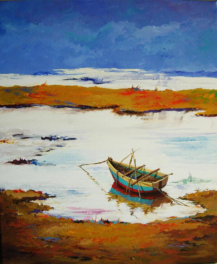 Landscape Painting - Waiting by Deepali Sagade
