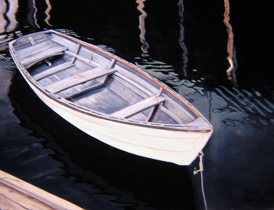 Waiting - dinghy by Keith Gantos