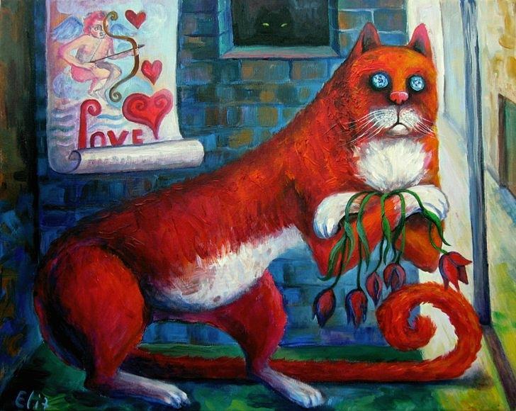Patience Painting - Waiting by Elisheva Nesis