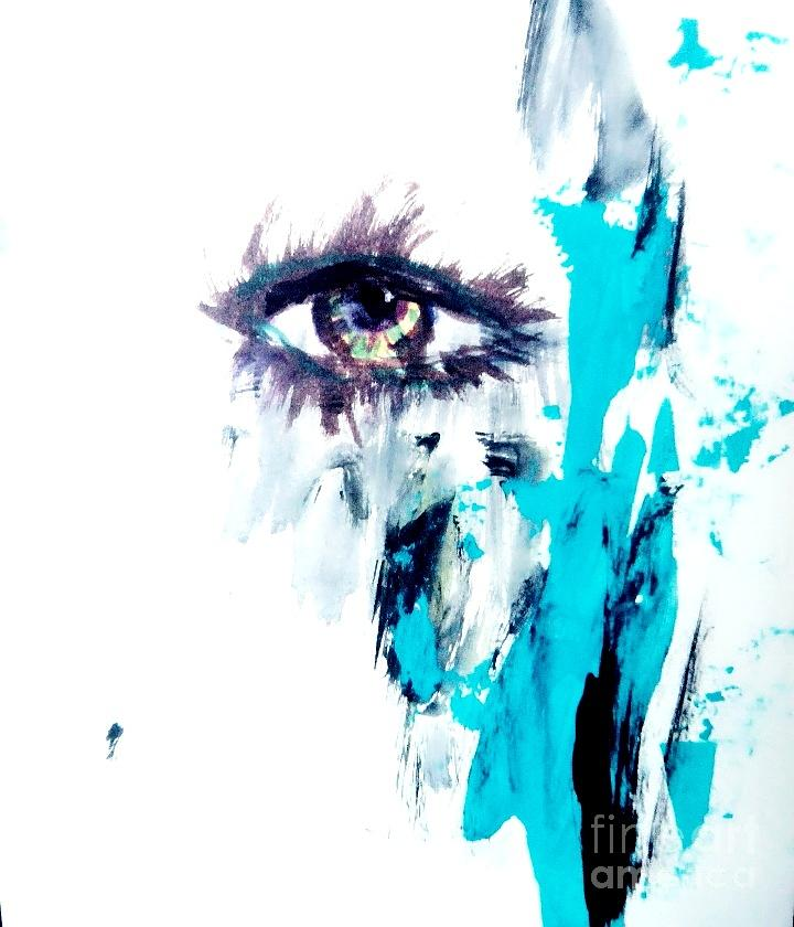 Eye Painting - Waiting Eye by Trilby Cole