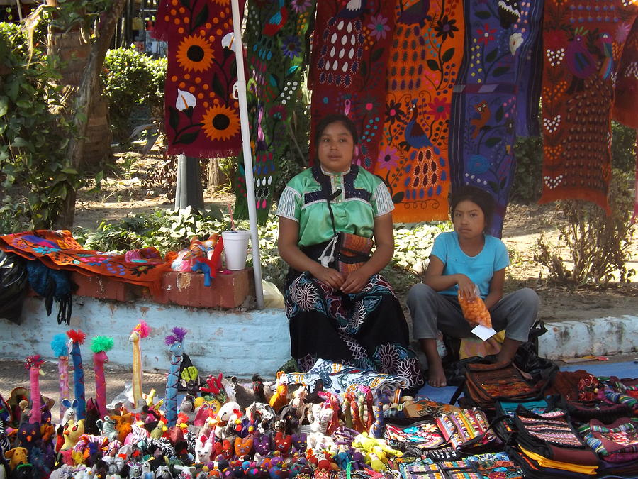 Mexican Market Photograph - Waiting For A Buyer by Walter Frankoski