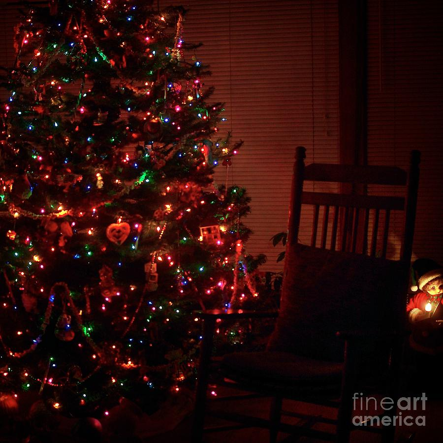 Christmas Cards Photograph - Waiting for Christmas - Square by Frank J Casella