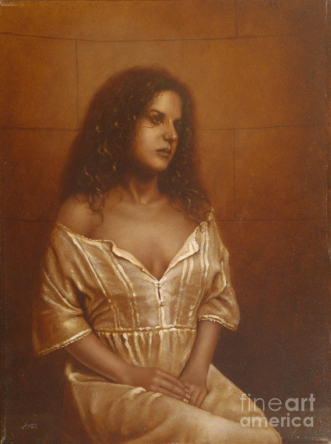 Girl Painting - Waiting For Her Lover by John Silver