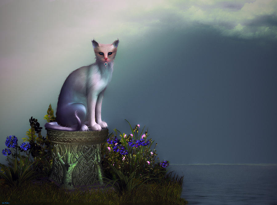 Cat Painting - Waiting For His Return by Tyler Robbins