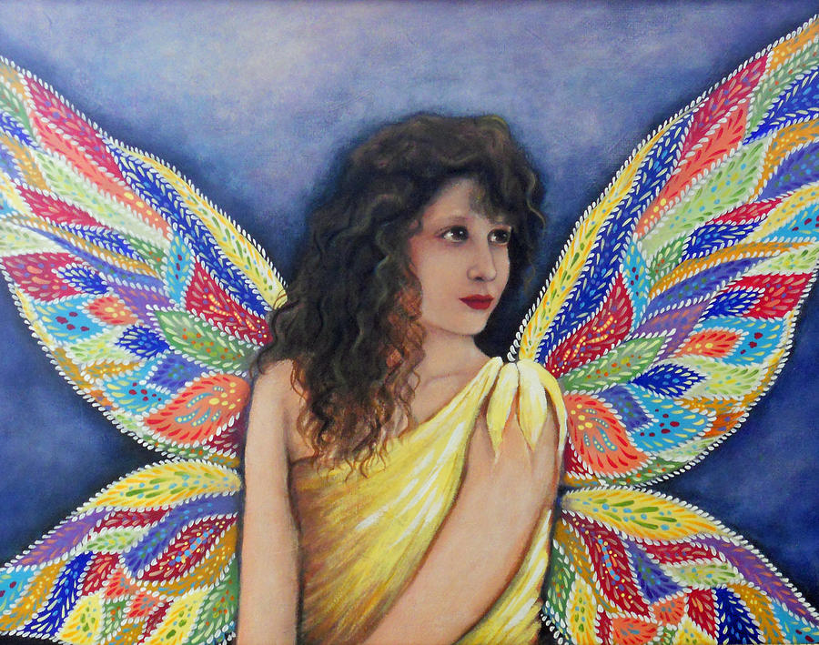 Fairy Painting - Waiting For Rain by Theresa Stites
