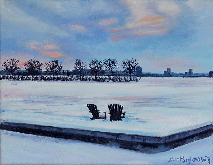 Boston Painting - Waiting For Spring by Sue Birkenshaw