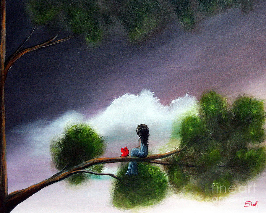 Fairy Tale Painting - Waiting For The End Of Time By Shawna Erback by Shawna Erback