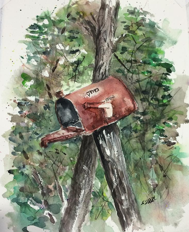 Country Painting - Waiting For The Mail by Stephanie Sodel