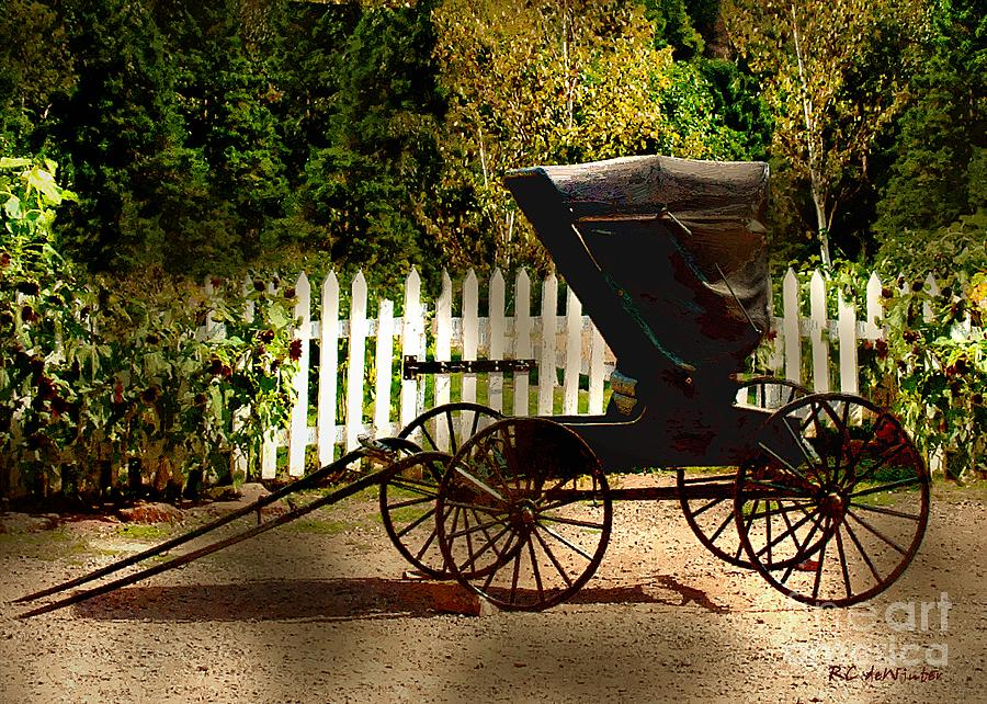 Amish Painting - Waiting For The Mare by RC DeWinter