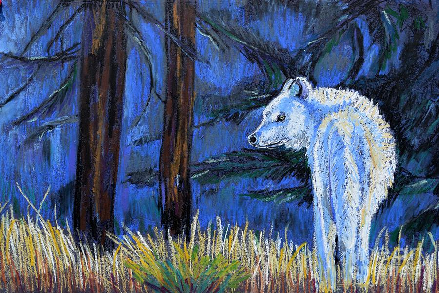 Wolf Pastel - Waiting For The Pack by Harriet Peck Taylor