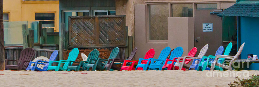 Beach Chairs Photograph - Waiting For The Show by Mitch Shindelbower